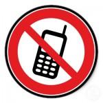 pas de téléphone portable